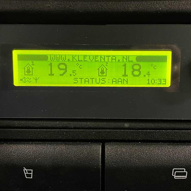temperatuur bestelwagenombouw